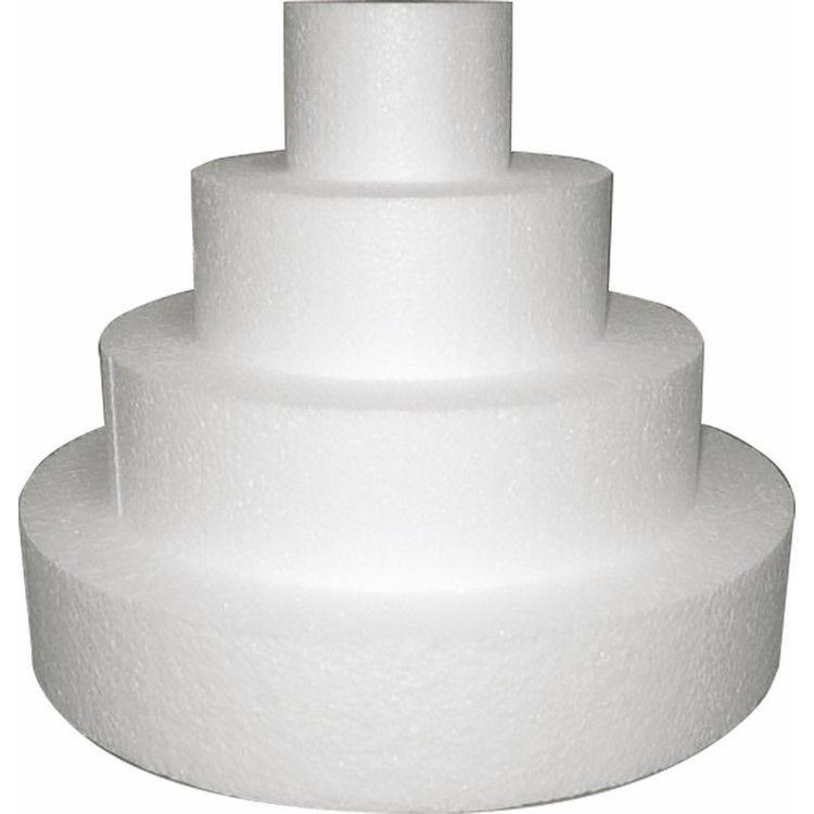 Gateau rond wedding cake en polystyrène de ø 25 cm