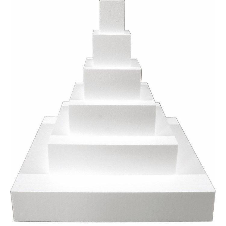 Gateau carre wedding cake en polystyrène de 58 x 58 cm