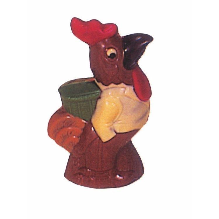 Moule pour chocolat coq avec hotte - hauteur 155 mm