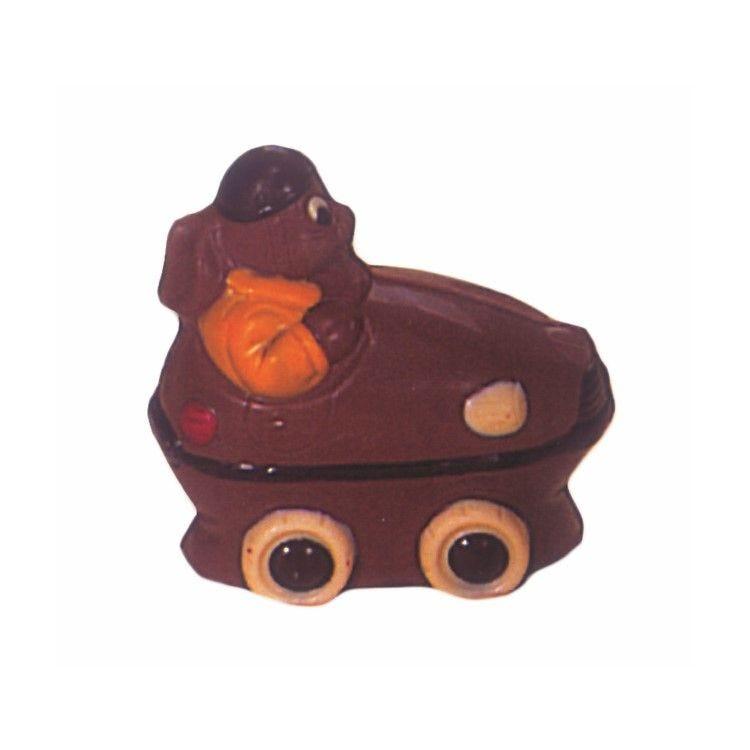 Moule pour chocolat lapin automobile longueur 125 mm