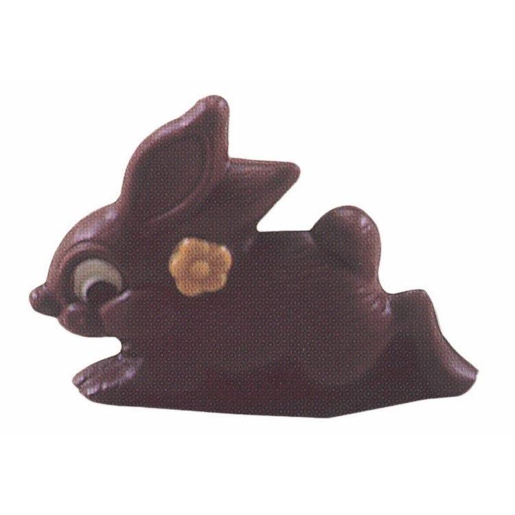 Moule pour chocolat lapin avec fleur longueur 155 mm