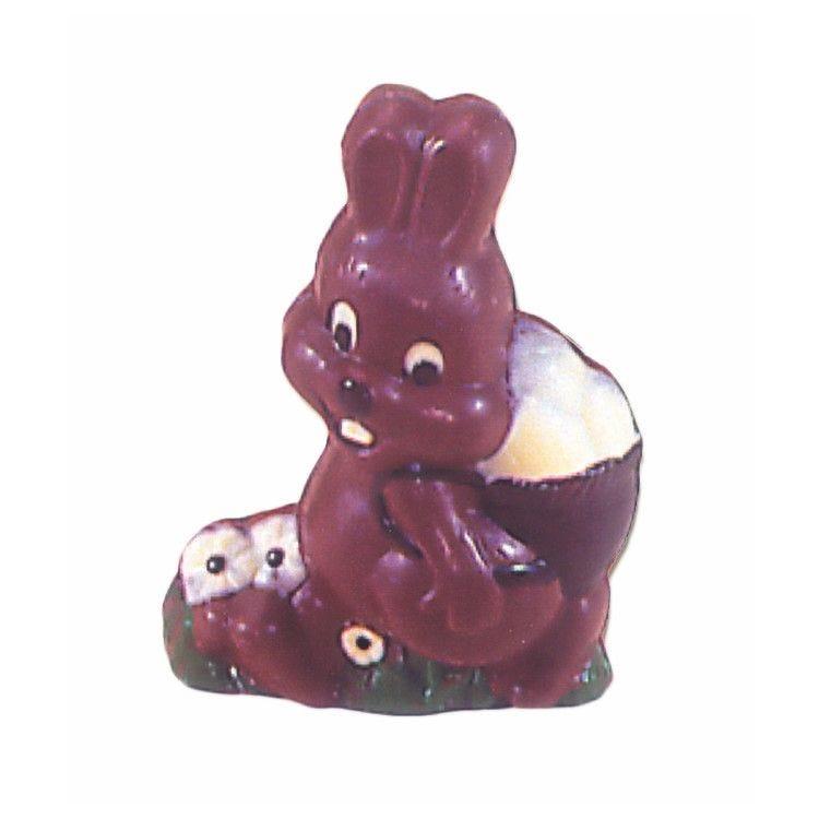 Moule pour chocolat lapin avec panier haut 150 mm