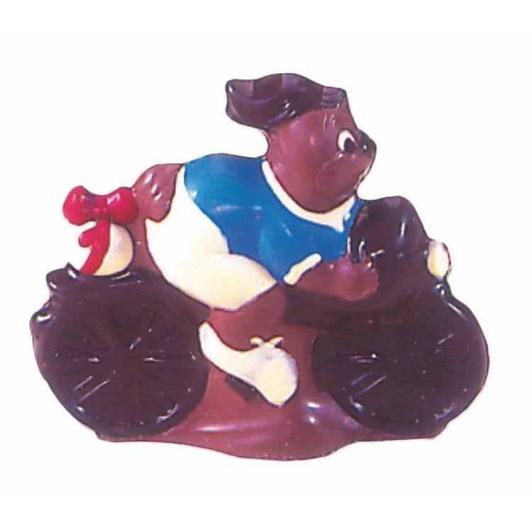 Moule pour chocolat lapin bicyclette longueur 160 mm