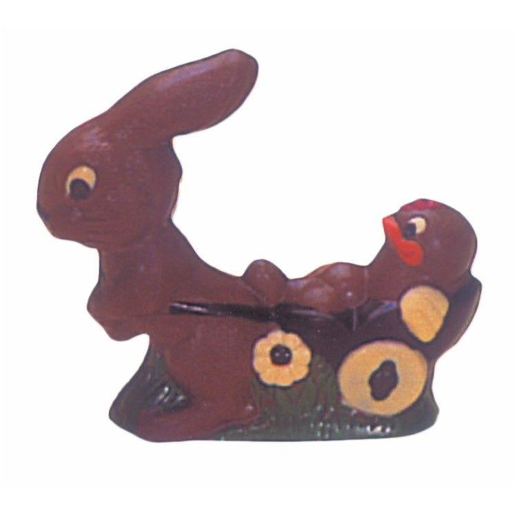 Moule pour chocolat lapin chariot longueur 187 mm