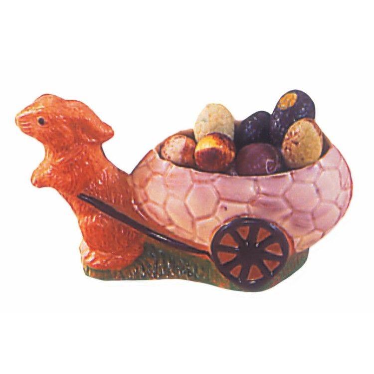Moule pour chocolat lapin charrette longueur 105 mm