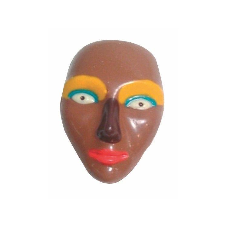Moule pour chocolat plaque de 3 masque simple dimensions : 3 x 77 mm
