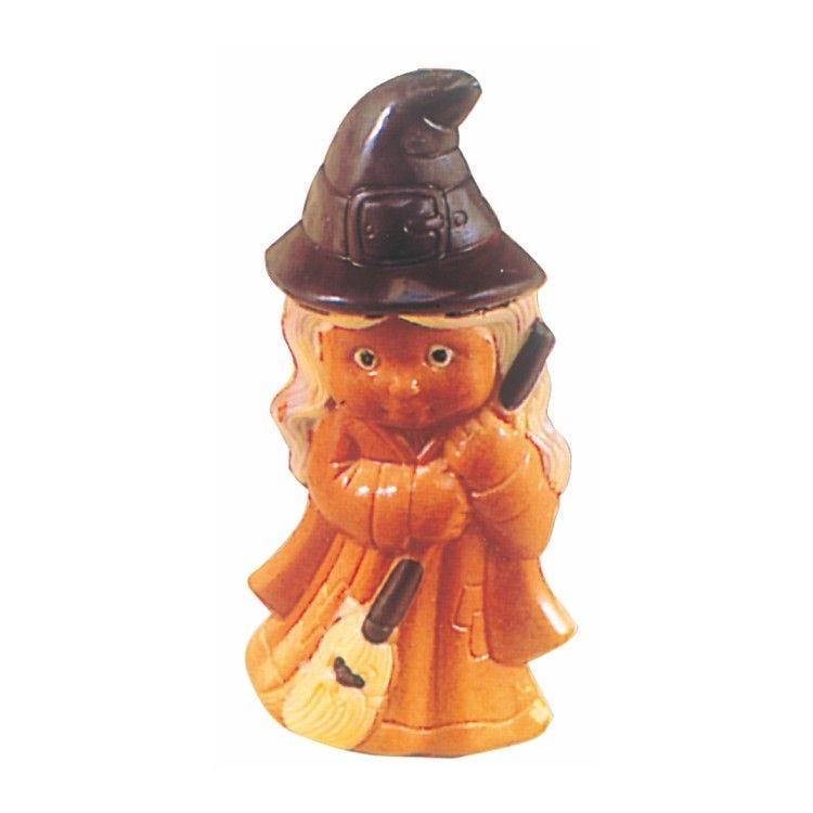 Moule pour chocolat petite fille sorciere hauteur 110 mm