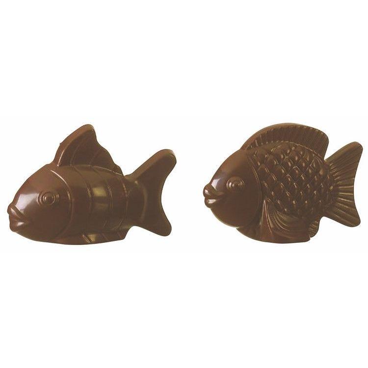 Moule pour chocolat poisson plaque de 2 moules dimensions 105 x 176 mm