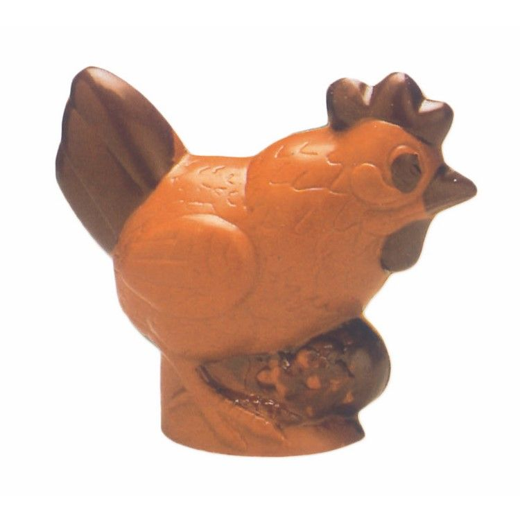 Moule pour chocolat poule avec oeuf hauteur 170 mm