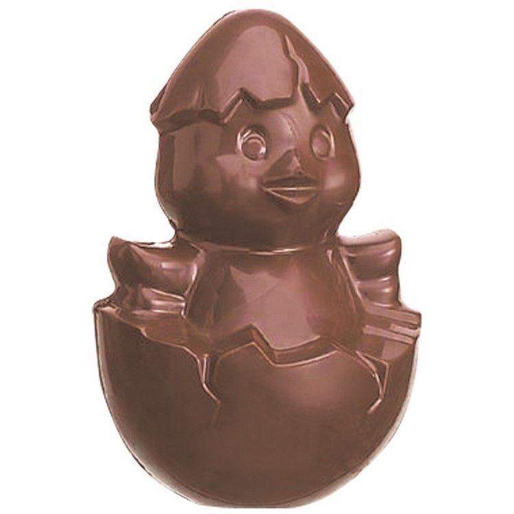 Moule pour chocolat poussin coquille plaque 3 moules dimensions 110 x 75 mm