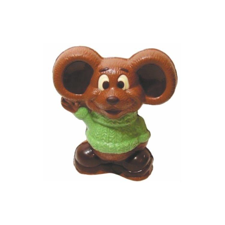 Moule pour chocolat souris garçon plaque de 3 hauteur 80 mm