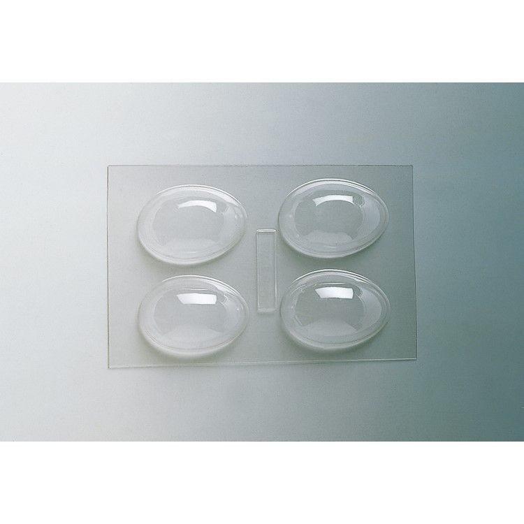 Plaque de 240 x 185 mm 4 demi-coquilles unies 80 x 60 x h 25 mm