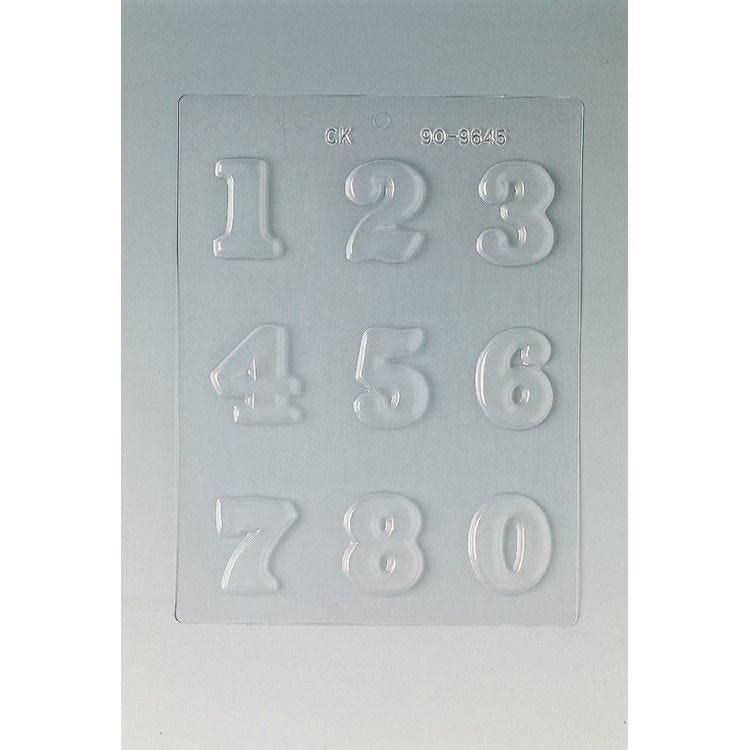 Plaque de 240 x 185 mm 9 chiffres 45 x 29 h 5 mm