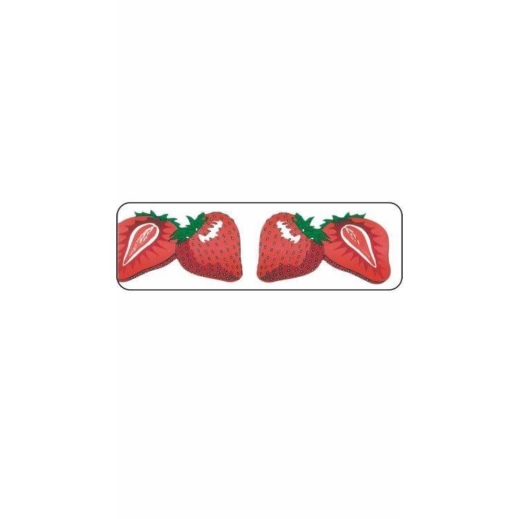 Rouleau pvc imprimé fraise 45 mm x 20 m