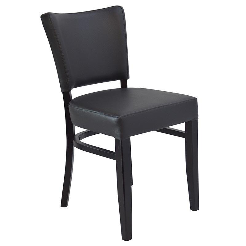 Chaise abigael - coloris noir et anthracite (photo)