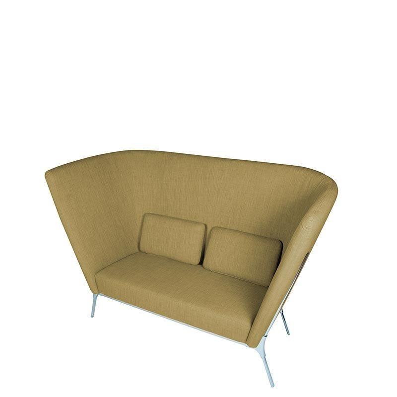 Canapé 2 places eole coloris vert - tissu (photo)