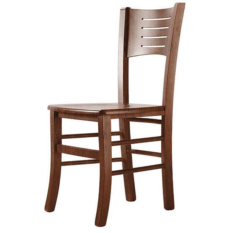 Chaise gala - coloris noyer (photo)