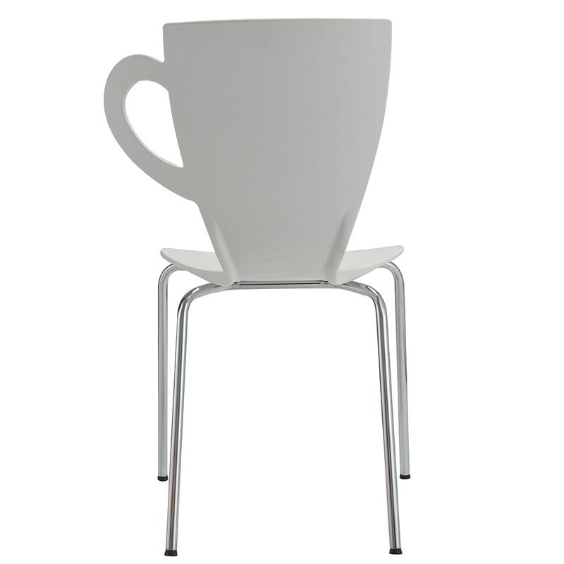 Chaise mevena coloris blanc - par 4 (photo)