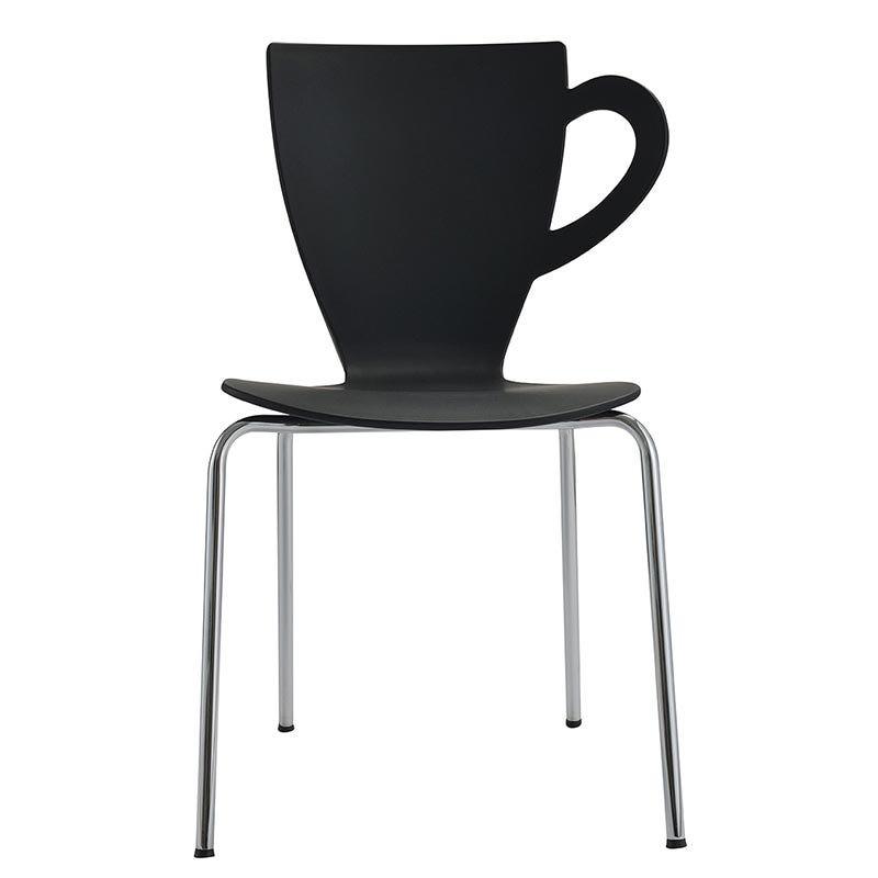 Chaise mevena coloris noir - par 4 (photo)