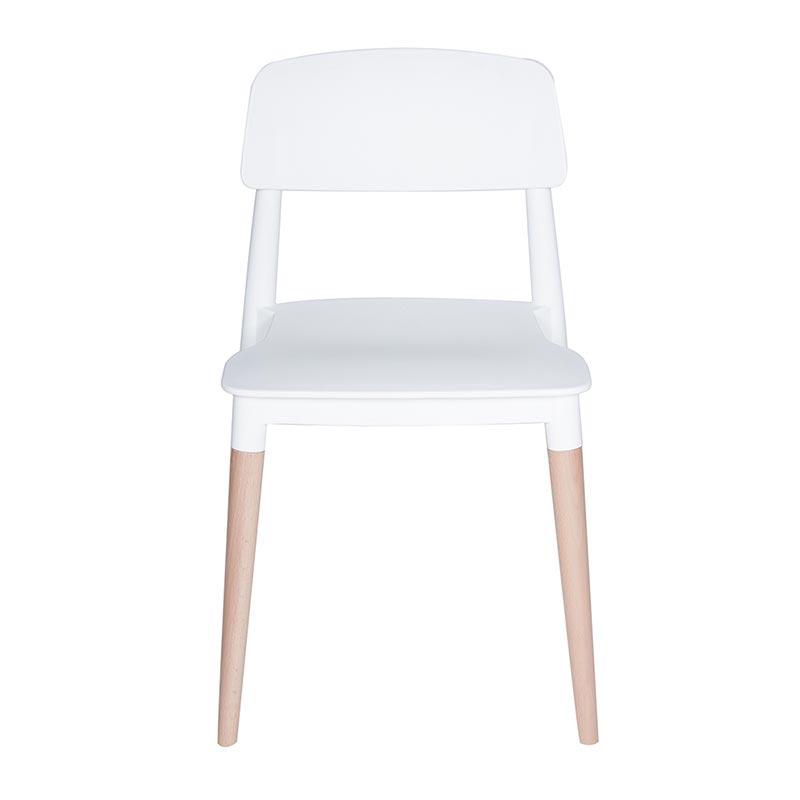 Chaise nina coloris blanc - par 4 (photo)