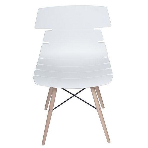 Chaise noela coloris blanc - par 4 (photo)