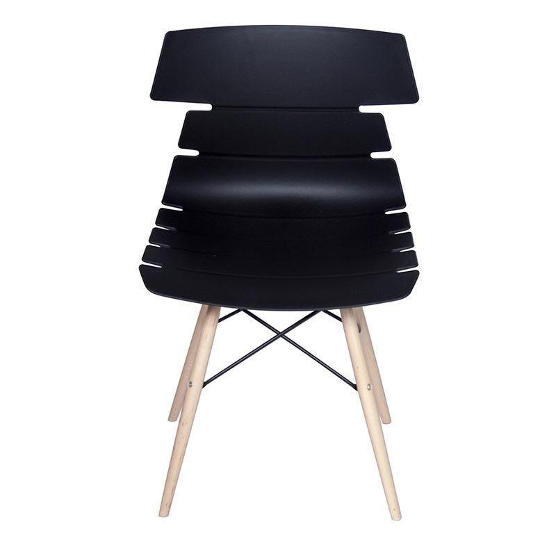 Chaise noela coloris noir - par 4 (photo)