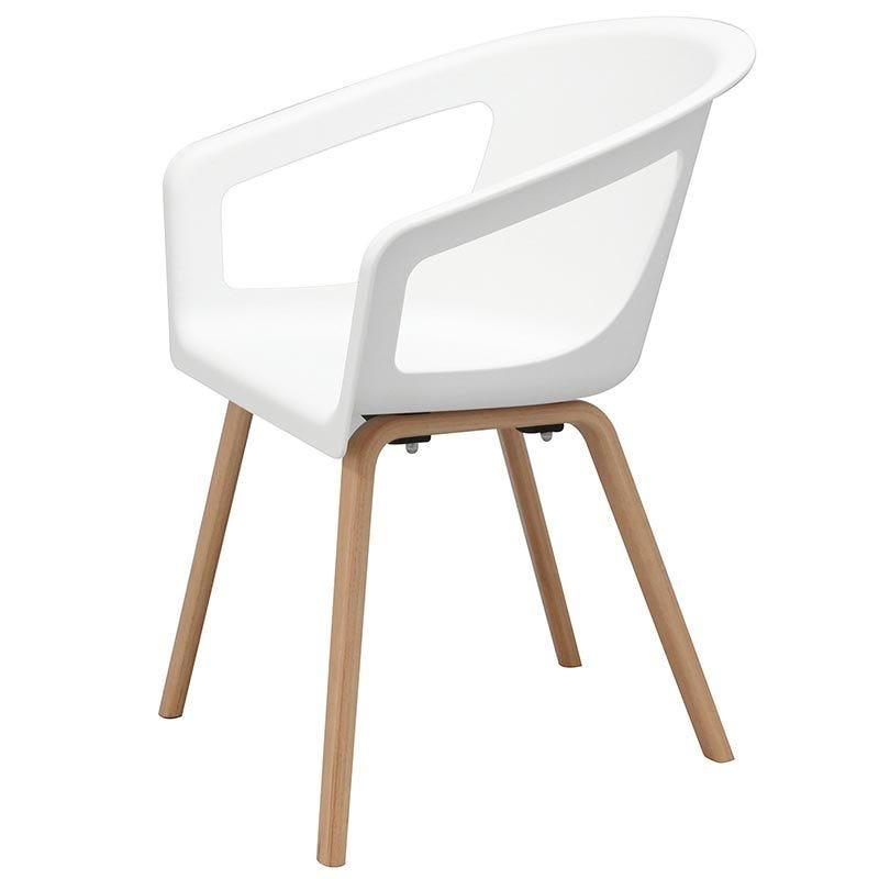 Chaise onenna coloris blanc - par 4 (photo)