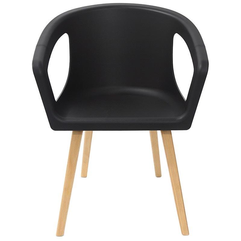 Chaise onenna coloris noir - par 4 (photo)