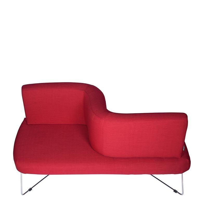 Canapé 2 places romulus coloris rouge - tissu (photo)