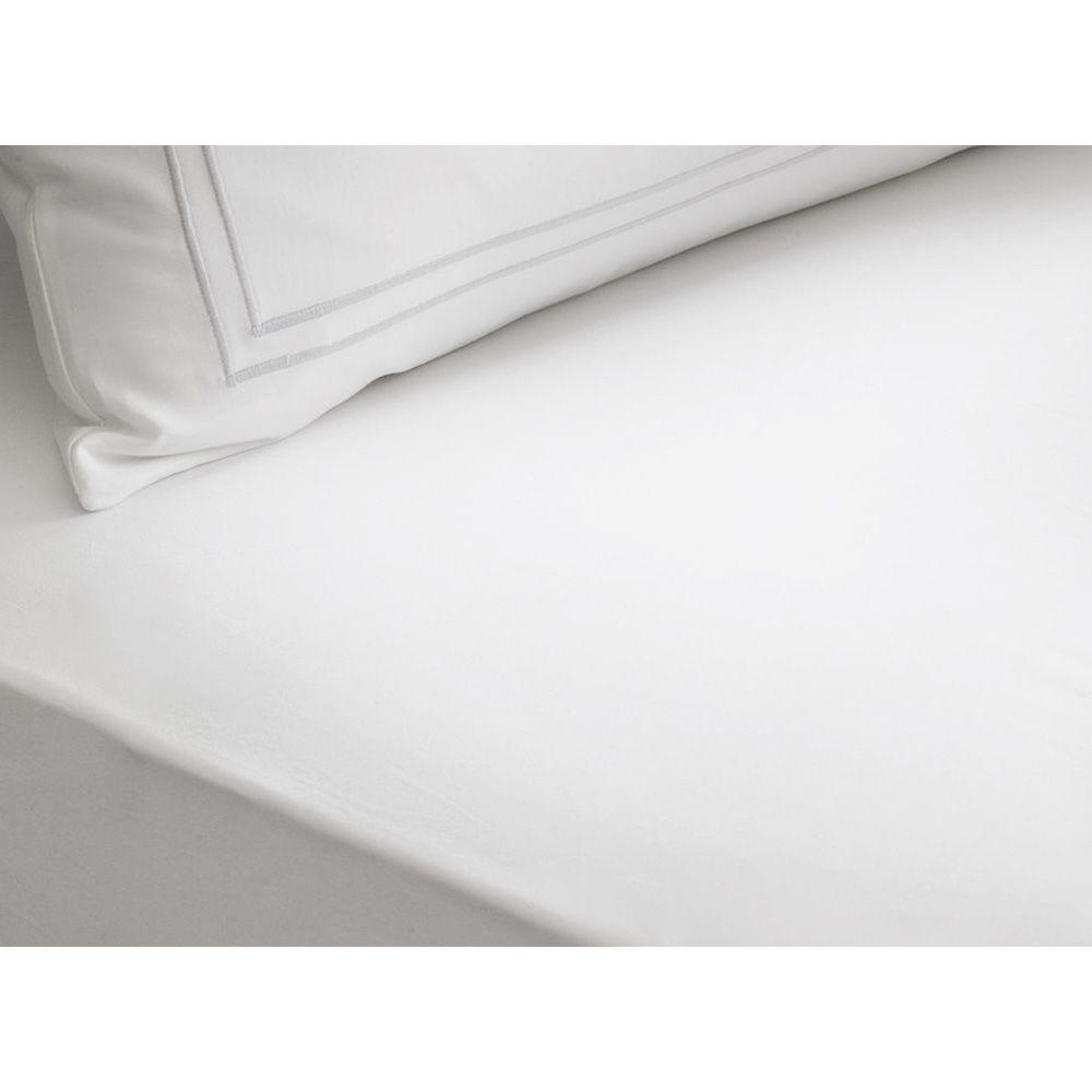 Drap housse blanc 140 x 190 cm - palace (photo)