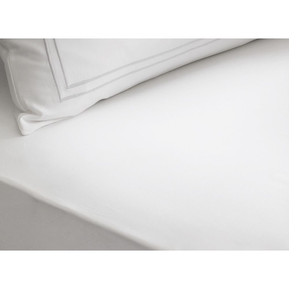 Drap housse blanc 160 x 200 cm - palace (photo)