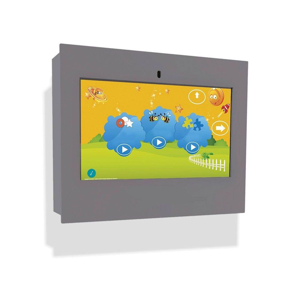 Borne intéractive murale box grise pour les enfants de 3 à 12 ans (photo)
