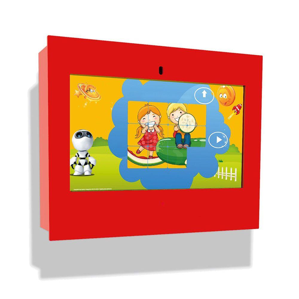 Borne intéractive murale box rouge pour les enfants de 3 à 12 ans (photo)