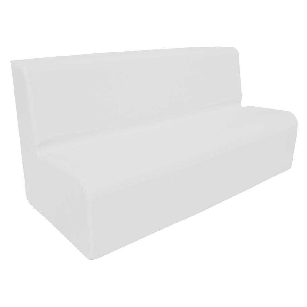 Canapé 200 blanc avec bords arrondis 200 x 45 cm et hauteur 50 cm (photo)