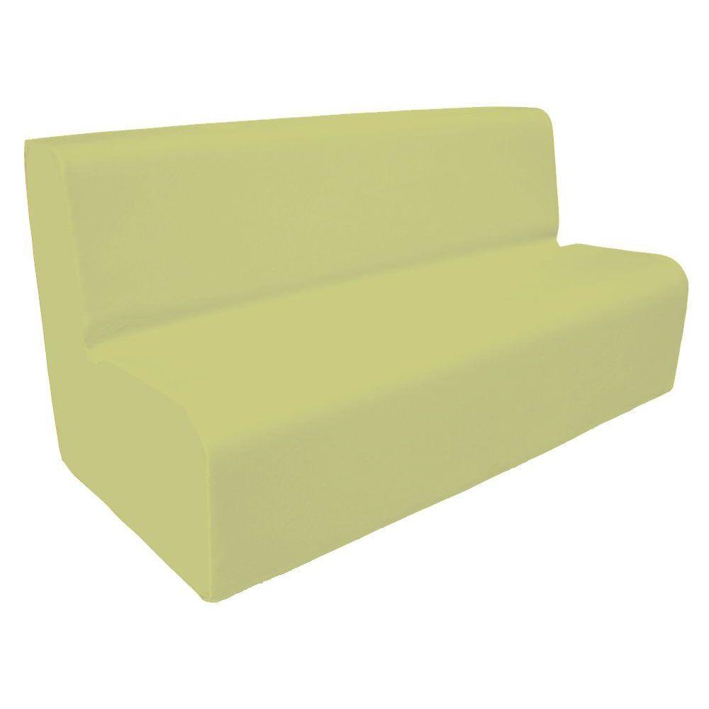 Canapé 200 beige avec bords arrondis 200 x 45 cm et hauteur 50 cm (photo)