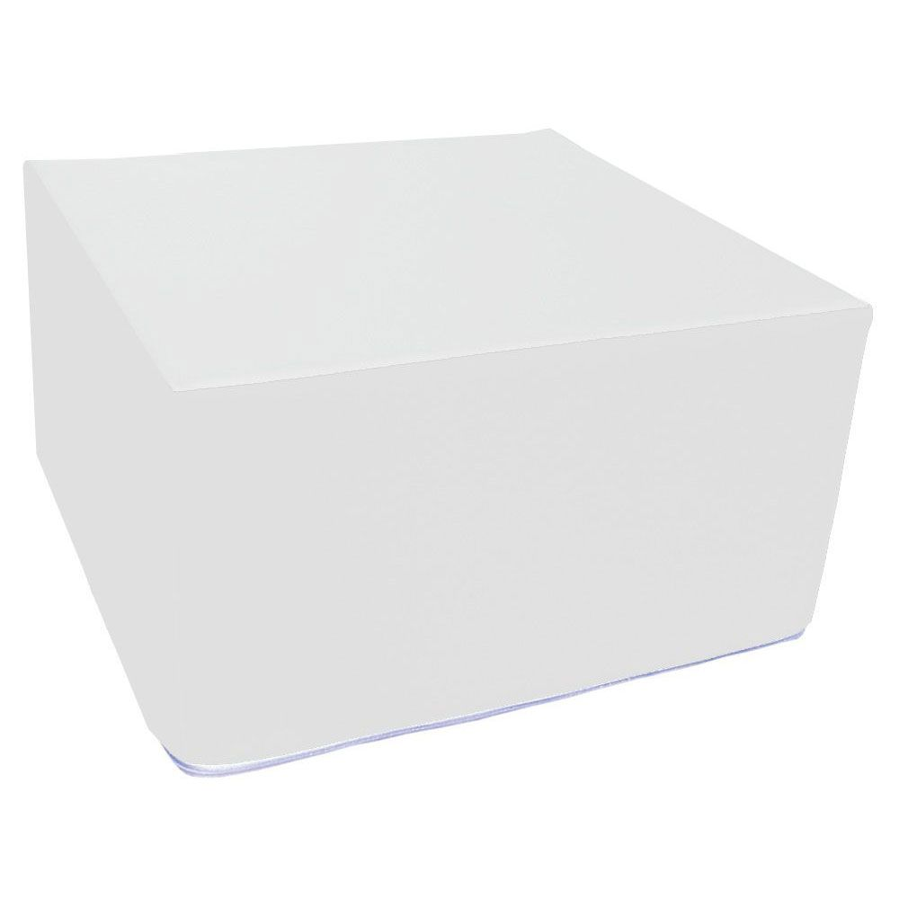 Assise carrée en mousse blanc 45 x 45 cm et hauteur 25 cm (photo)