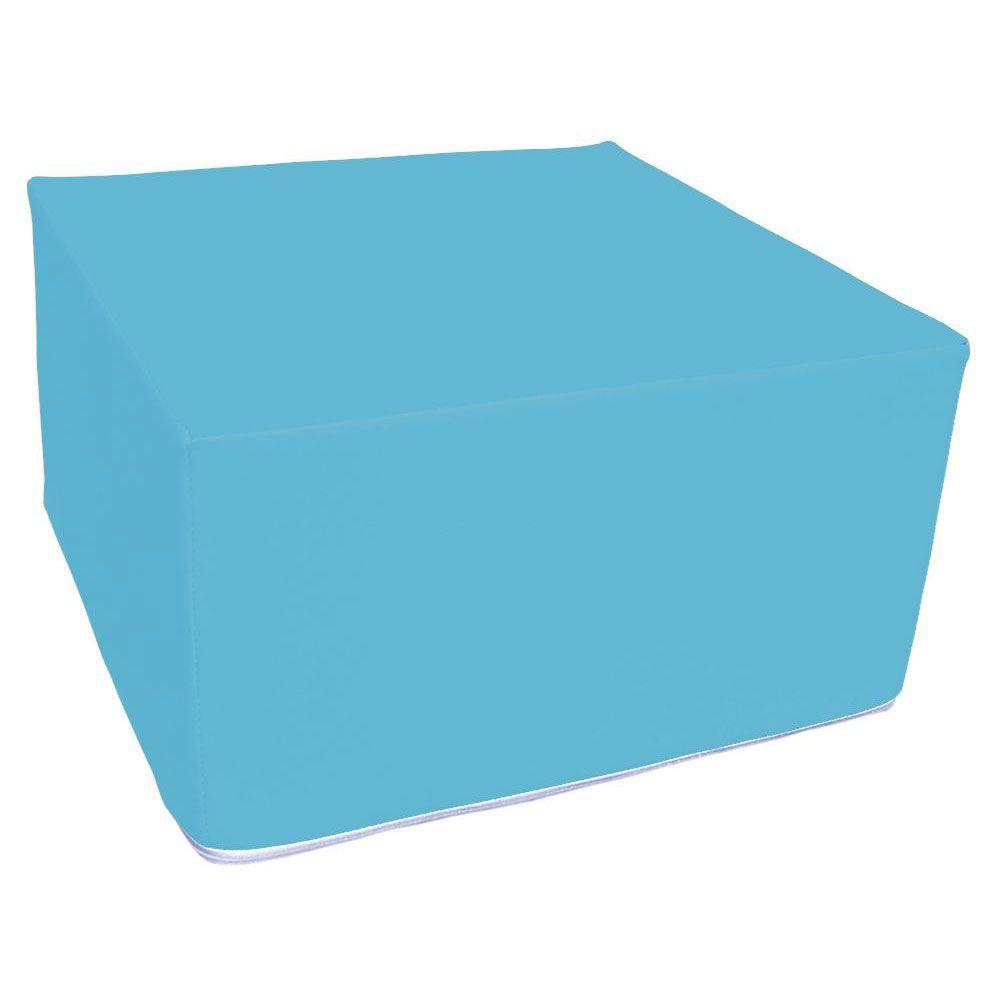Assise carrée en mousse bleu clair 45 x 45 cm et hauteur 25 cm (photo)