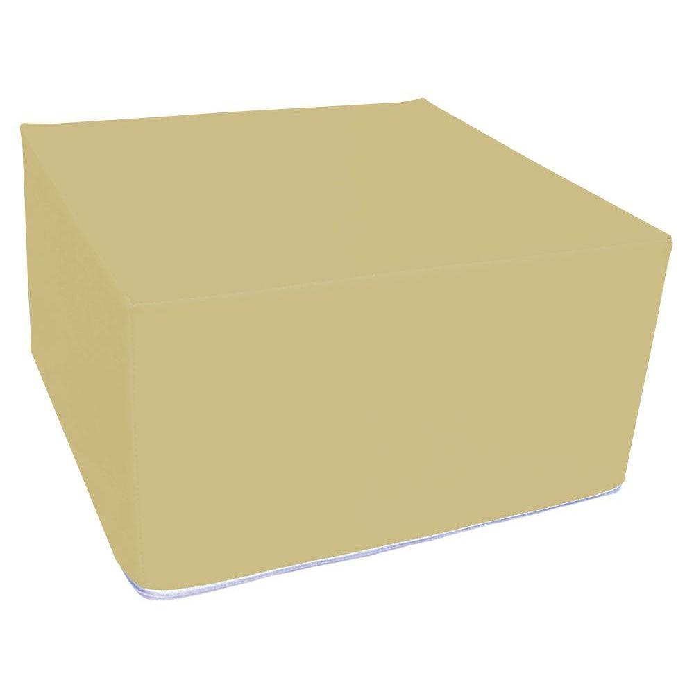 Assise carrée en mousse beige 45 x 45 cm et hauteur 25 cm (photo)