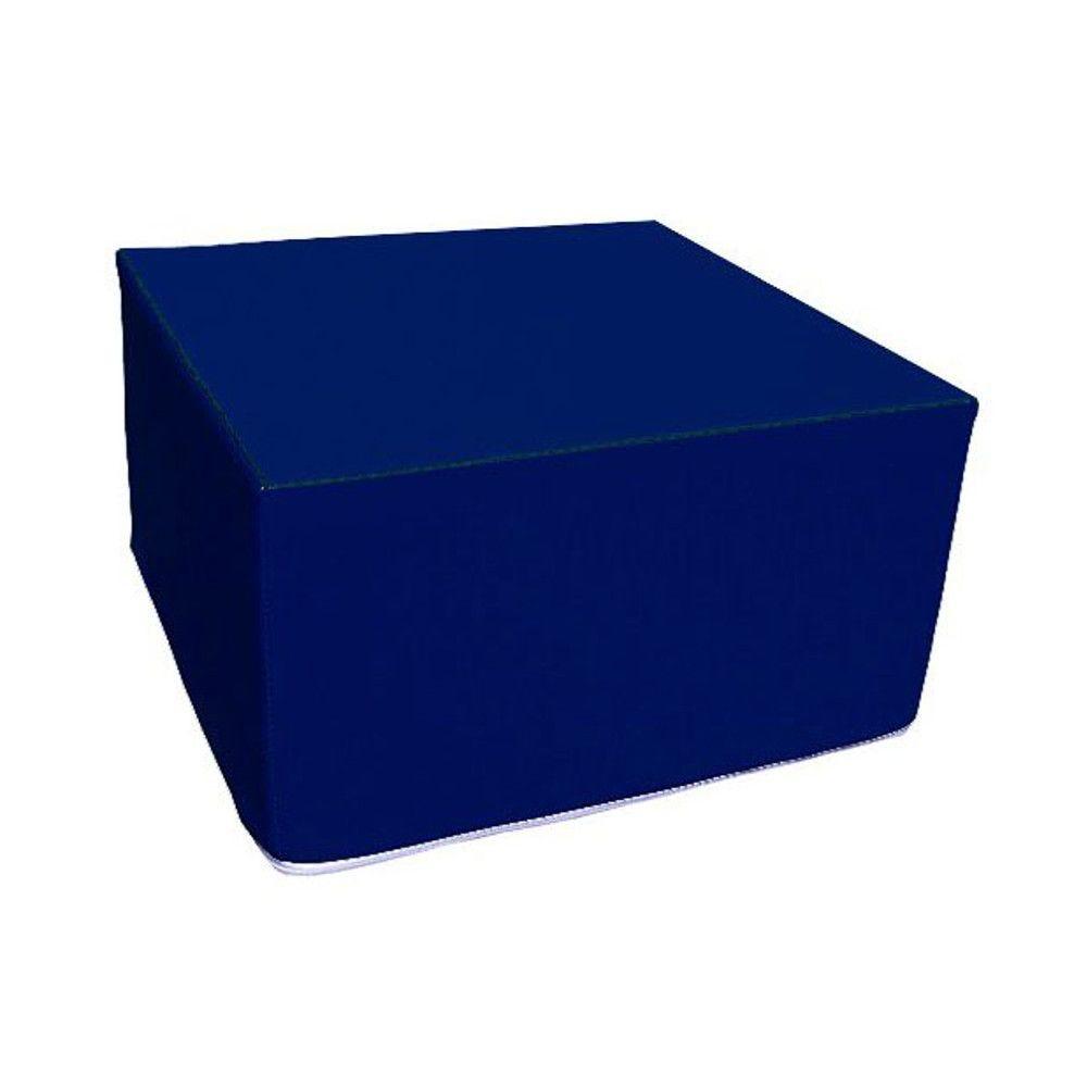 Assise carrée en mousse bleu foncé 45 x 45 cm et hauteur 25 cm (photo)
