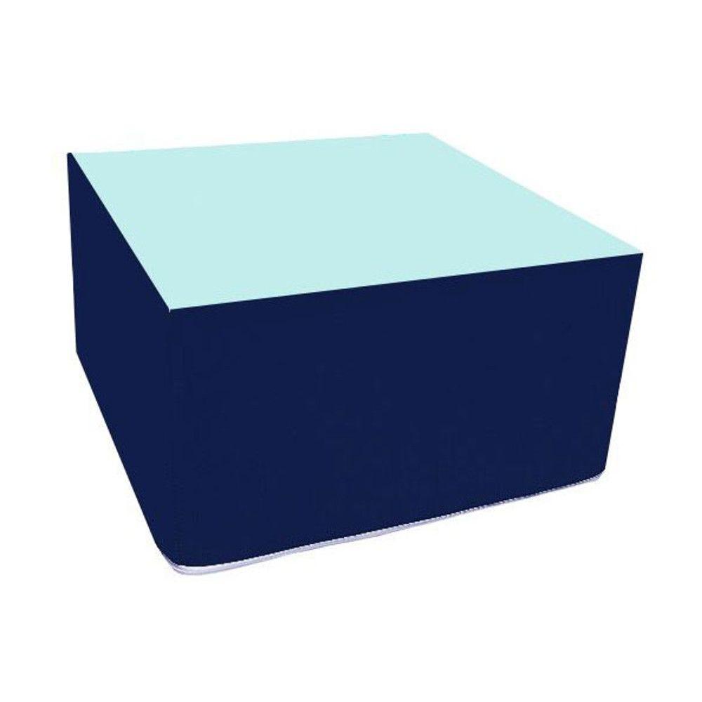 Assise carrée en mousse bleu foncé et bleu clair 45 x 45 cm et hauteur 25 cm (photo)