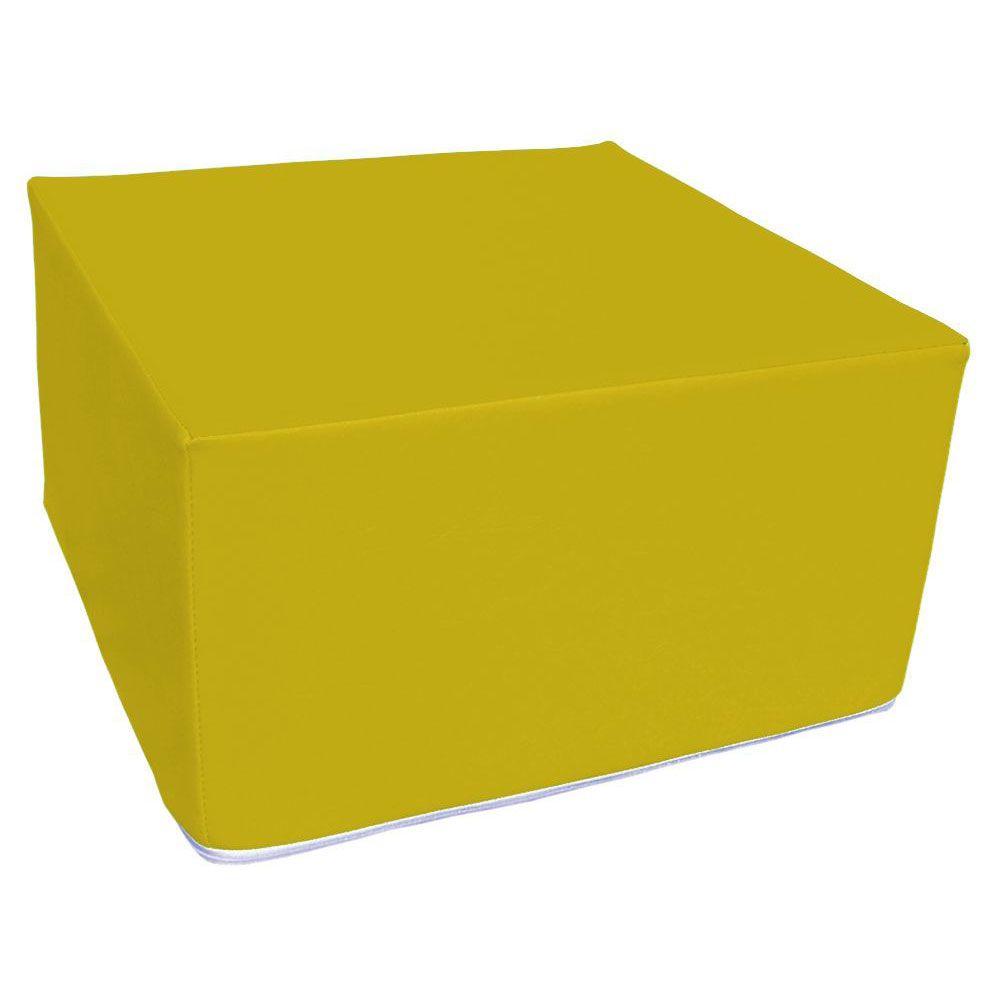 Assise carrée en mousse jaune 45 x 45 cm et hauteur 25 cm (photo)