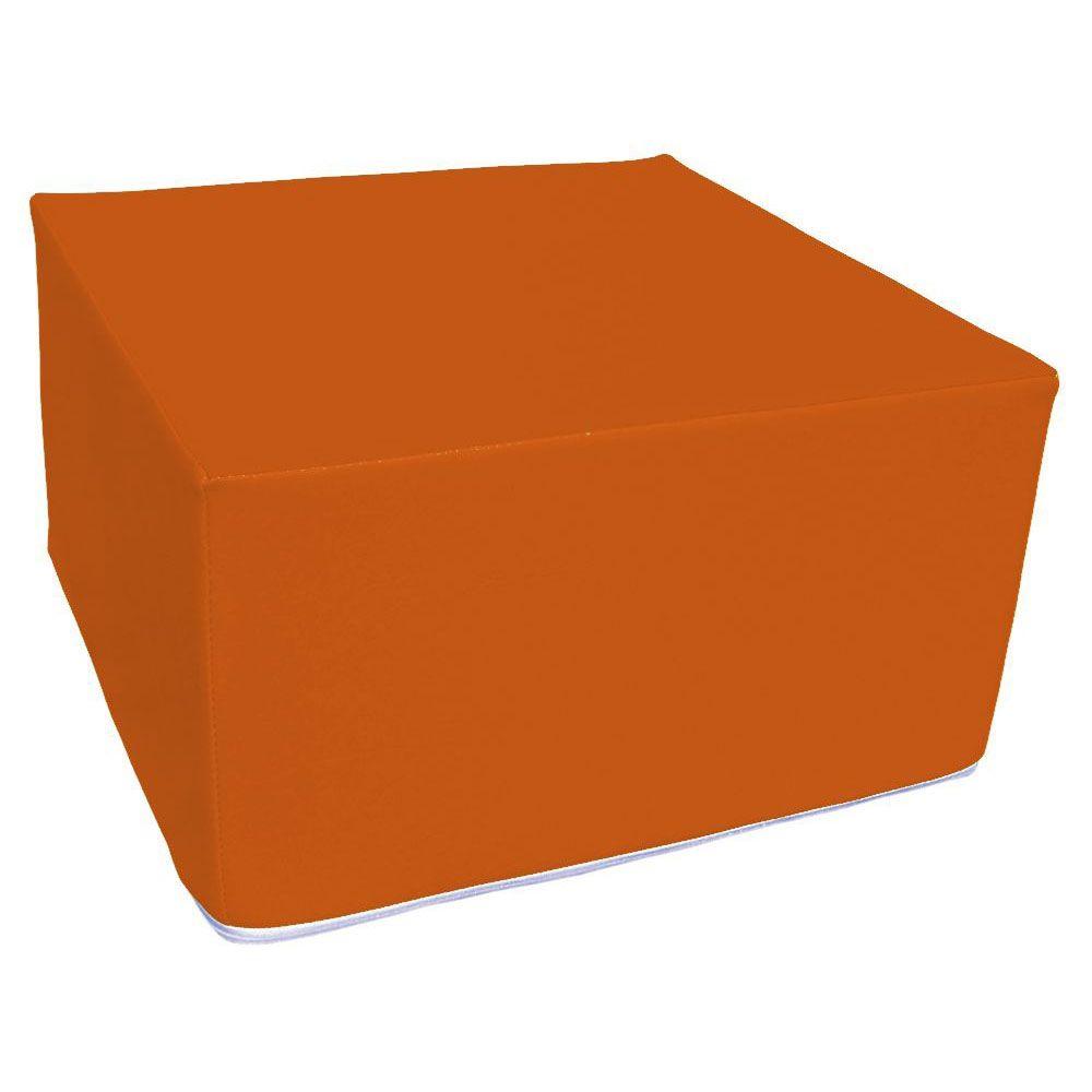 Assise carrée en mousse orange 45 x 45 cm et hauteur 25 cm (photo)