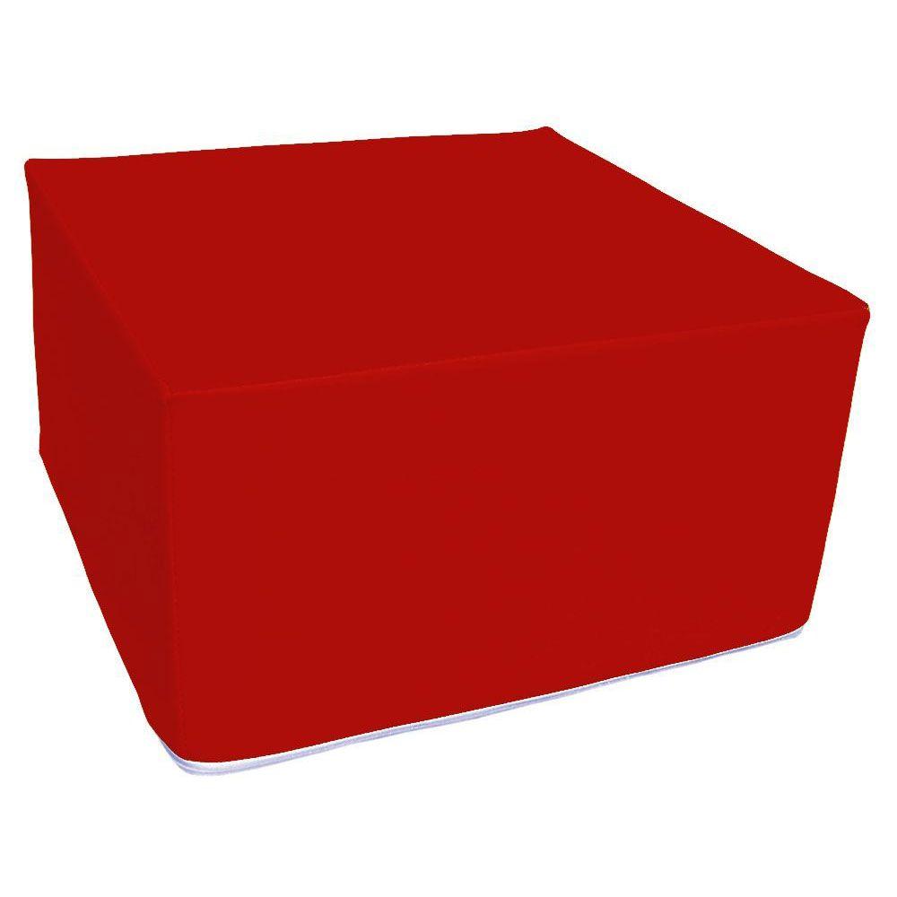 Assise carrée en mousse rouge 45 x 45 cm et hauteur 25 cm (photo)