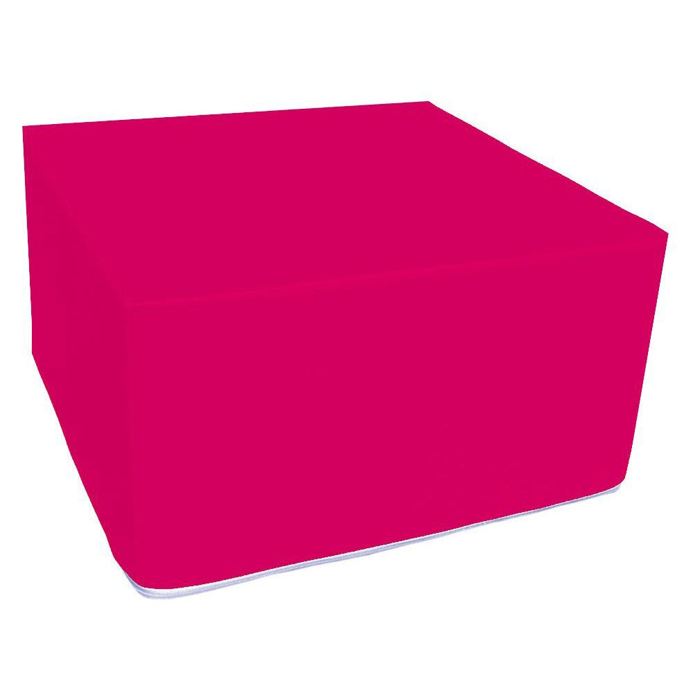 Assise carrée en mousse rose 45 x 45 cm et hauteur 25 cm (photo)