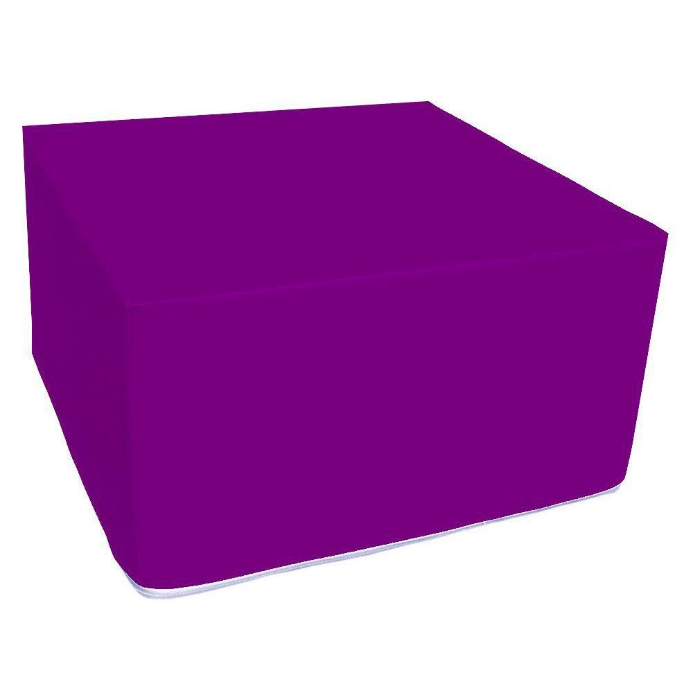 Assise carrée en mousse violet 45 x 45 cm et hauteur 25 cm (photo)
