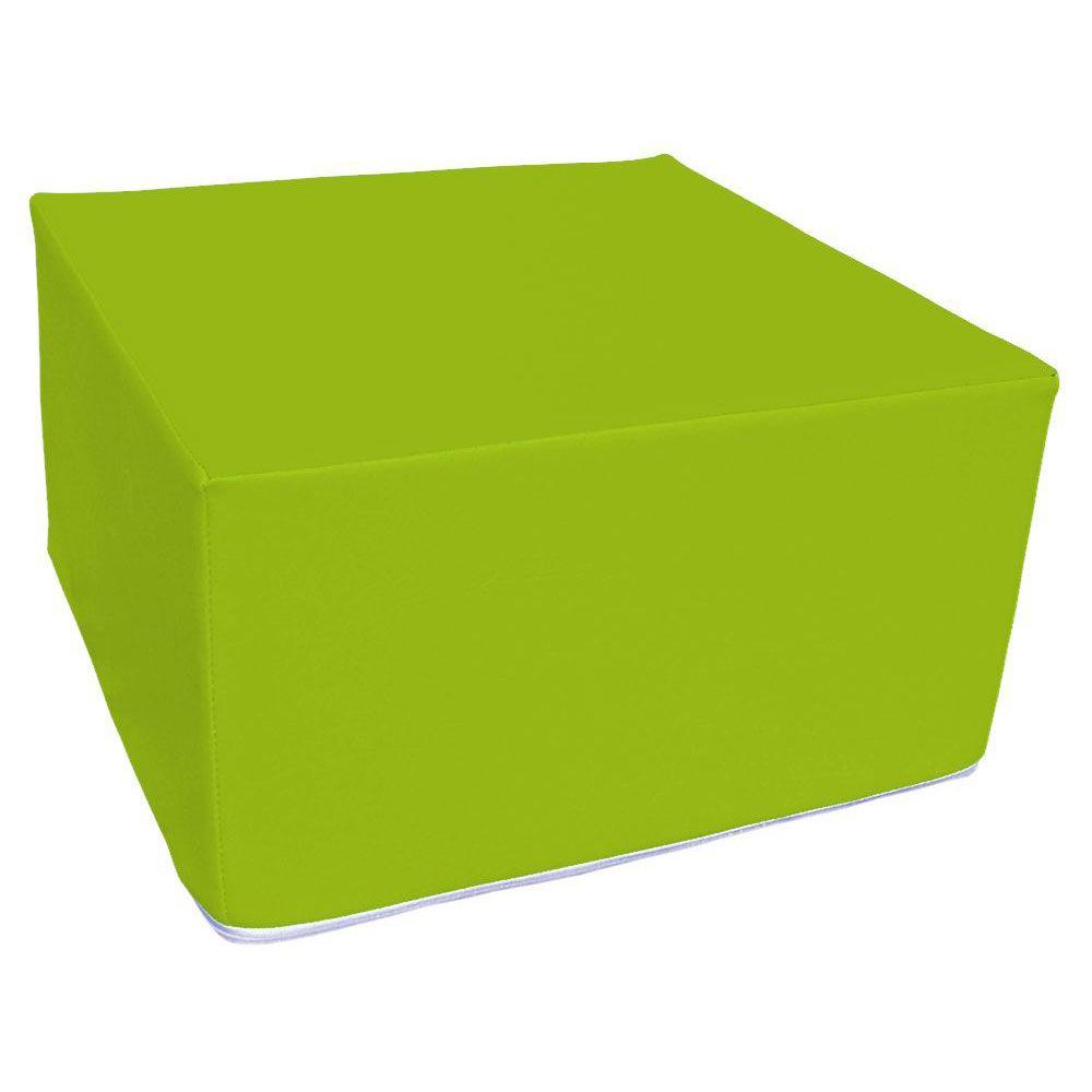 Assise carrée en mousse vert clair 45 x 45 cm et hauteur 25 cm (photo)