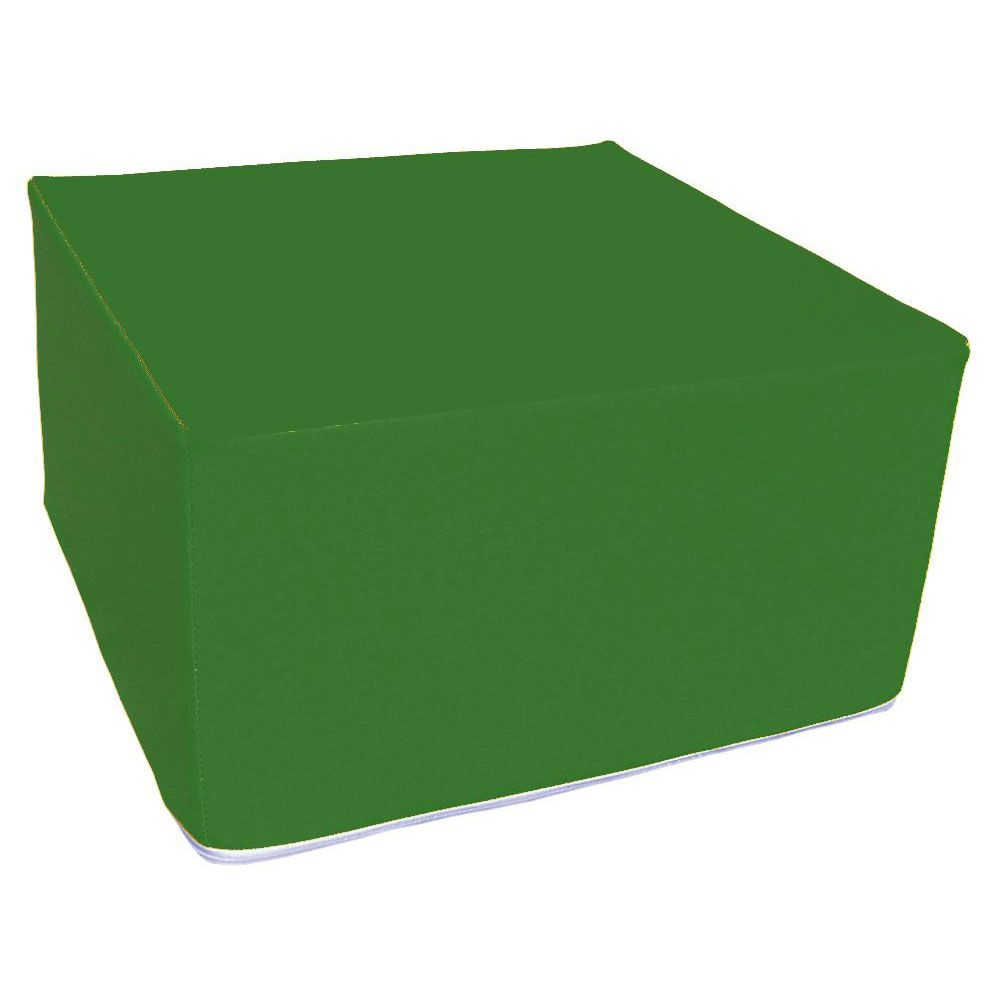 Assise carrée en mousse vert foncé 45 x 45 cm et hauteur 25 cm (photo)