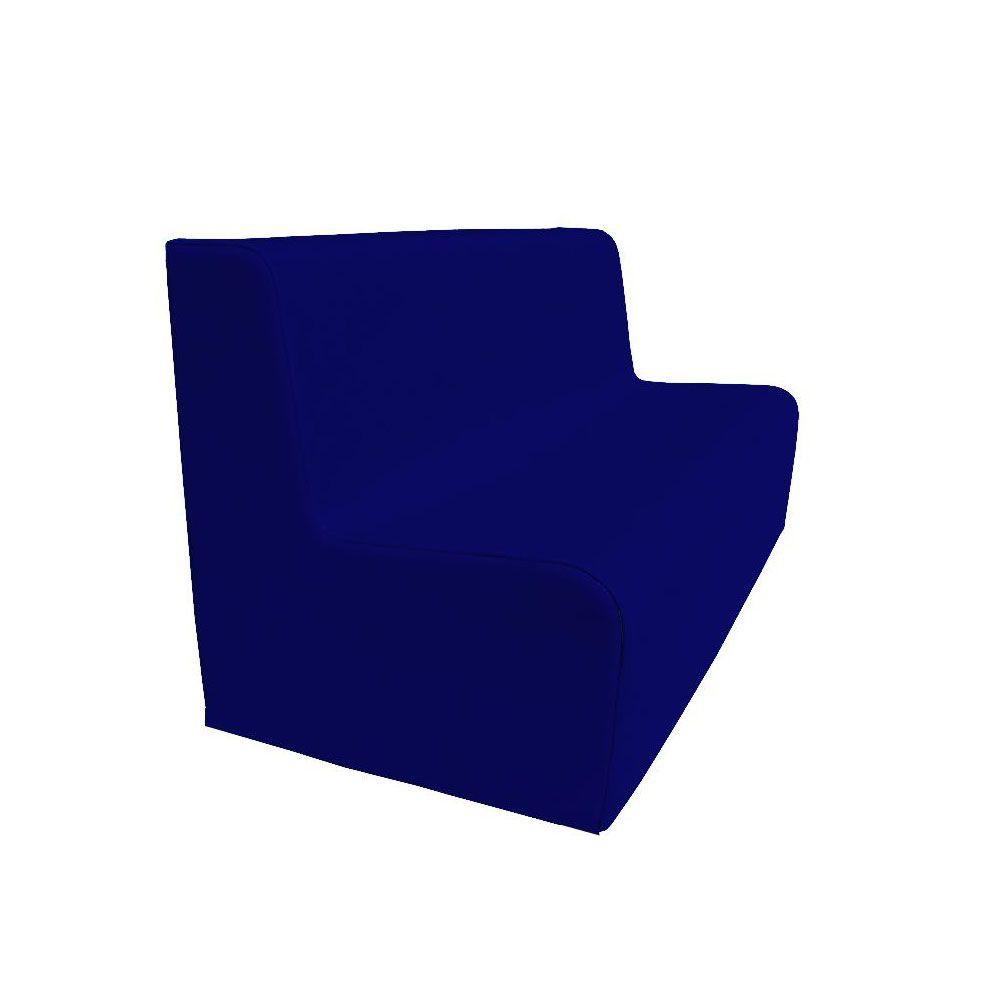 Canapé 150 bleu foncé avec bords arrondis 150 x 45 cm et hauteur 50 cm (photo)