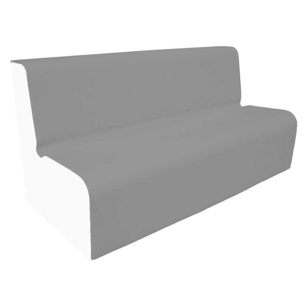 Canapé 150 gris et blanc avec bords arrondis 150 x 45 cm et hauteur 50 cm (photo)