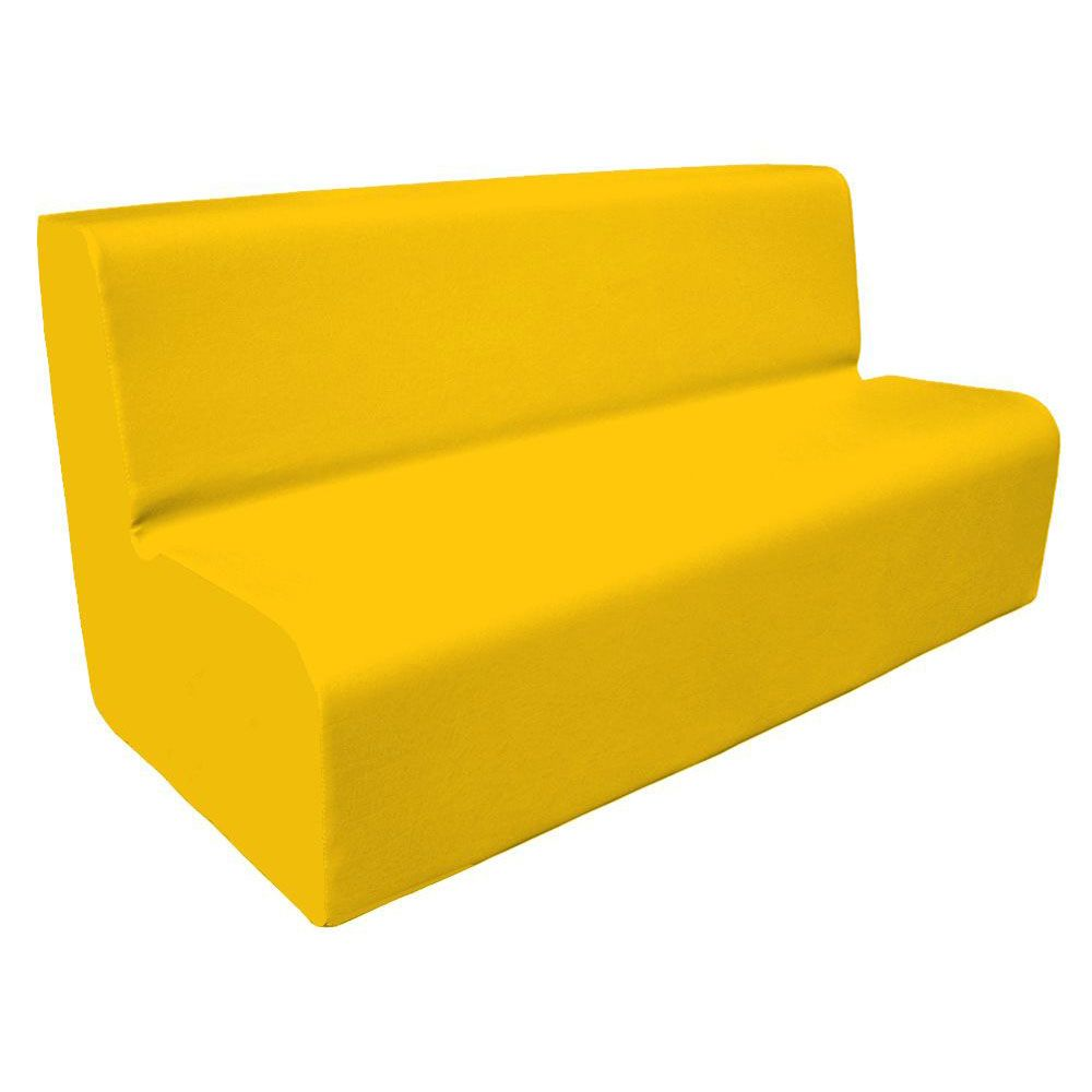 Canapé 150 jaune avec bords arrondis 150 x 45 cm et hauteur 50 cm (photo)
